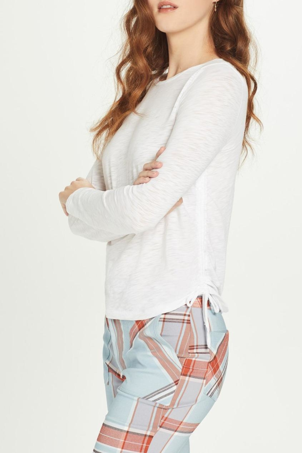 Goldie Ruched Side Tee - Main Image