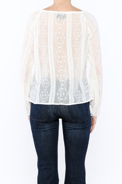 Goldie Sheer Peasant Top - Alternate List Image
