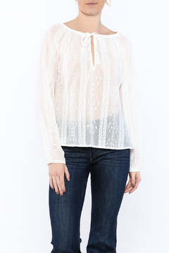 Goldie Sheer Peasant Top - Product List Image