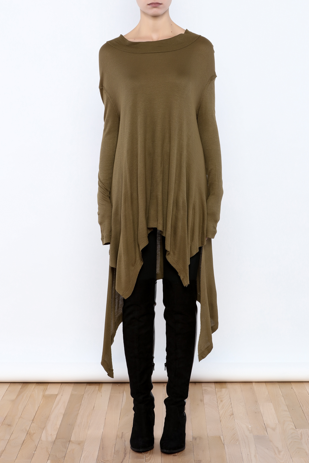 Goldspark Asymmetric Trapeze Tunic - Front Cropped Image