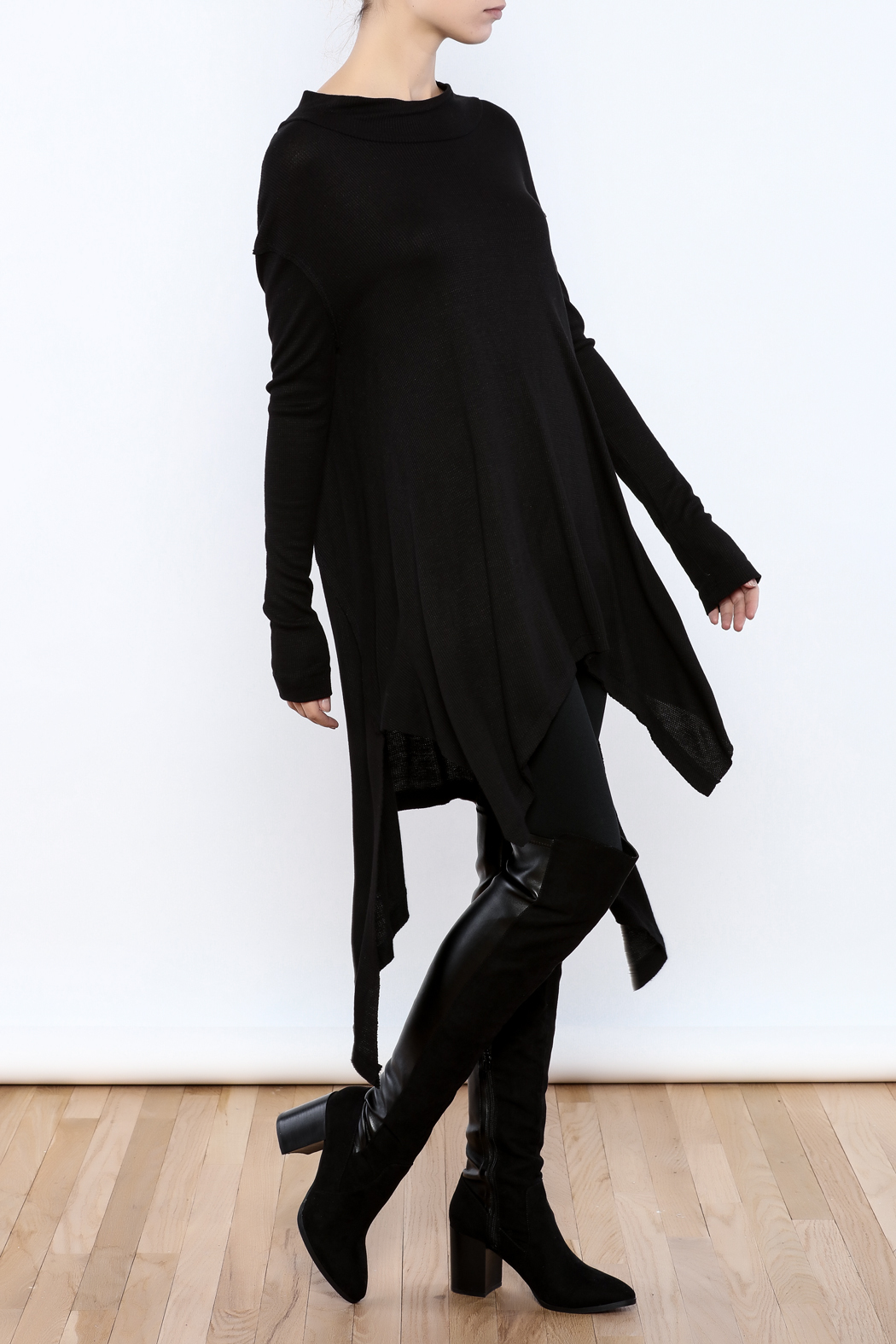 Goldspark Asymmetric Trapeze Tunic - Front Full Image