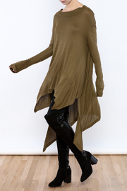 Goldspark Asymmetric Trapeze Tunic - Front full body