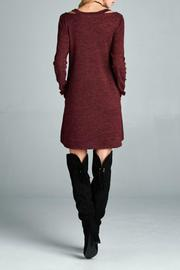 Goldspark Cut-Out Sweater Dress - Side cropped
