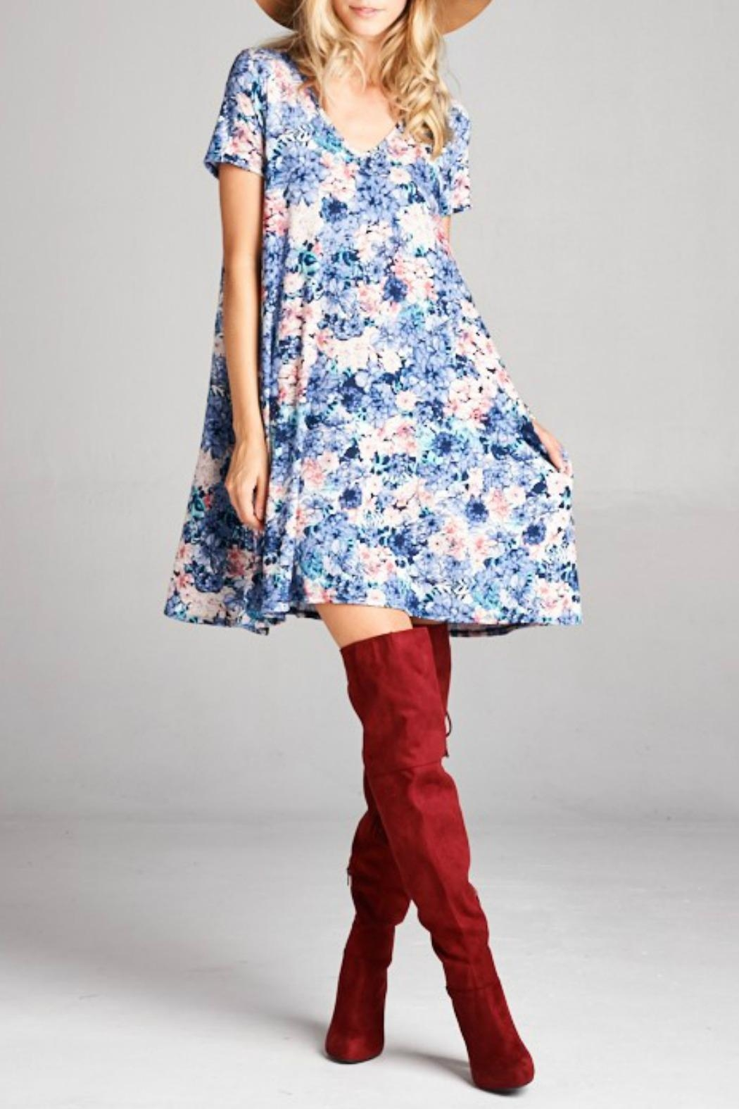 Goldspark Floral Swing Dress - Main Image