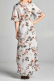 Goldspark Kimono Wrap Dress - Front full body