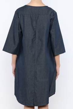 Shoptiques Product: Lace Up Chambray Dress