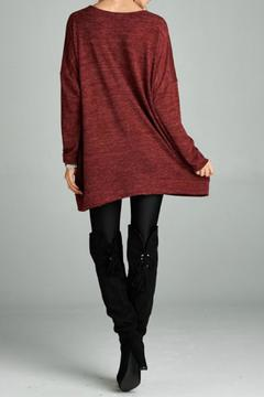 Shoptiques Product: Lace Up Tunic Sweater