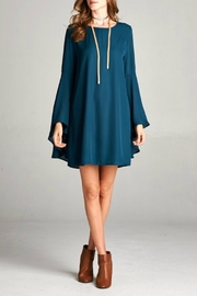 Goldspark Open-Back Bell-Sleeve Dress - Product Mini Image