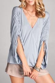 Goldspark Poncho Style Top - Product Mini Image
