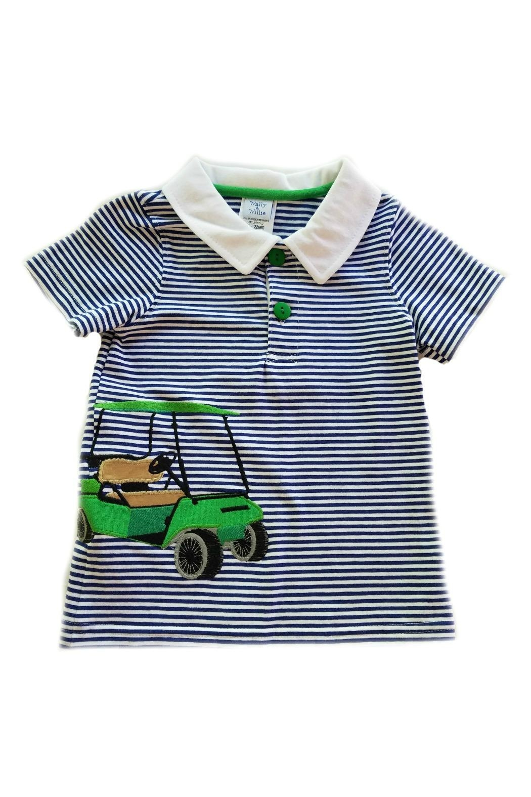 Wally & Willie Golf-Cart Applique Polo - Main Image