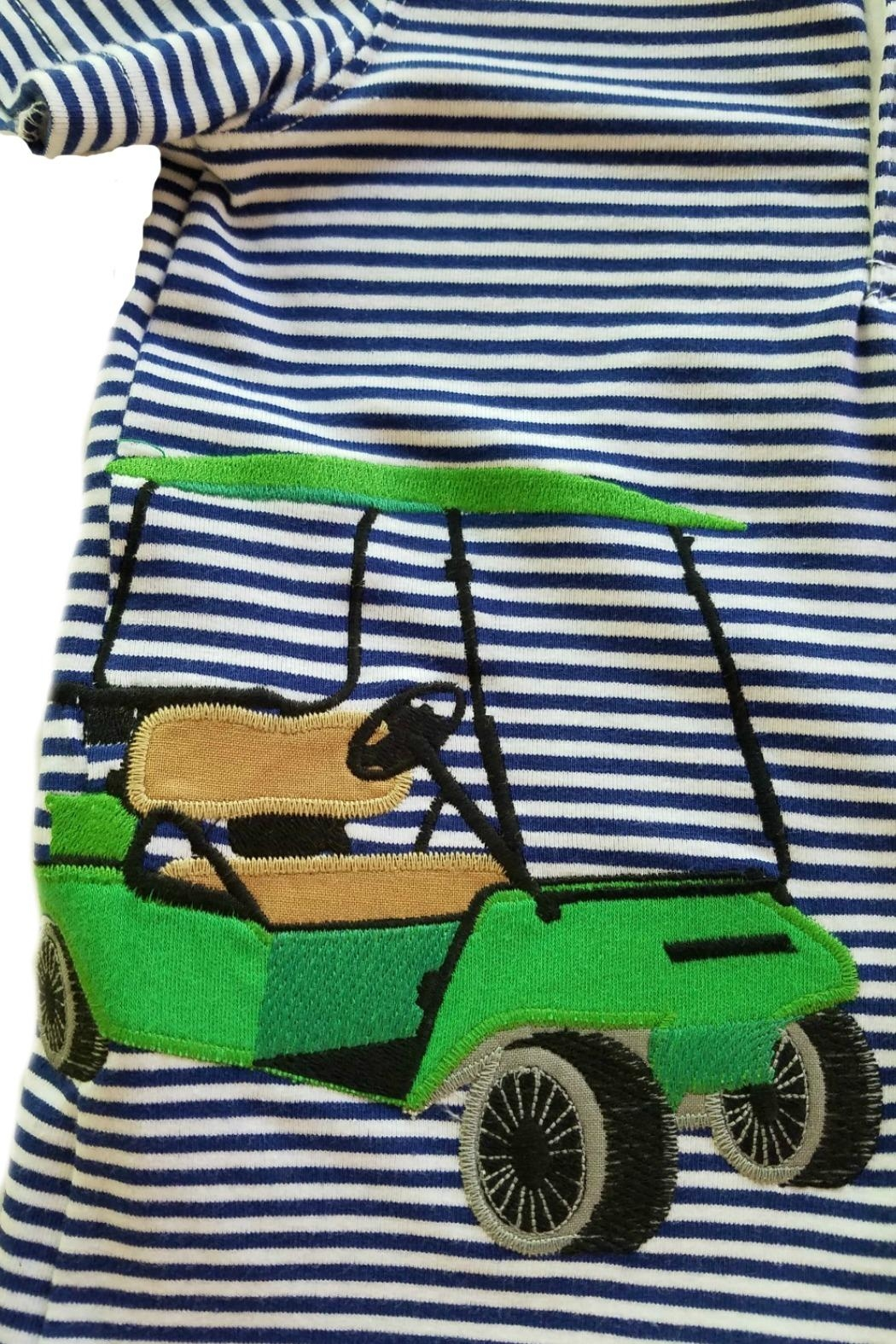 Wally & Willie Golf-Cart Applique Polo - Front Full Image