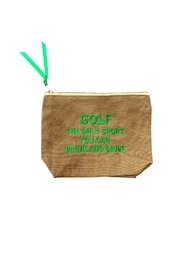 Dani Risi Golf, The Only Sport You Can Drink and Drive Pouch - Front cropped