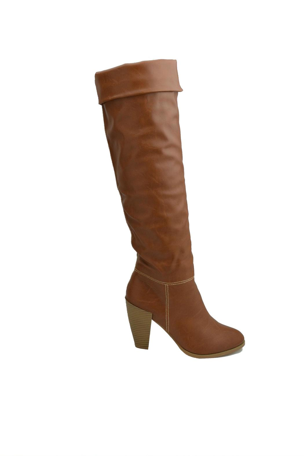 Gomax High-Shaft Heeled Boots - Back Cropped Image