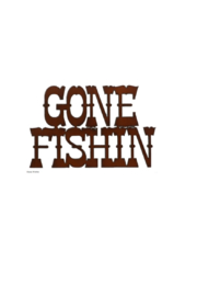 Rustic Ironwerks Gone Fishin' - Front cropped