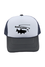 Outdoorable Apparel Gone Fishing  Hat - Grey - Product Mini Image