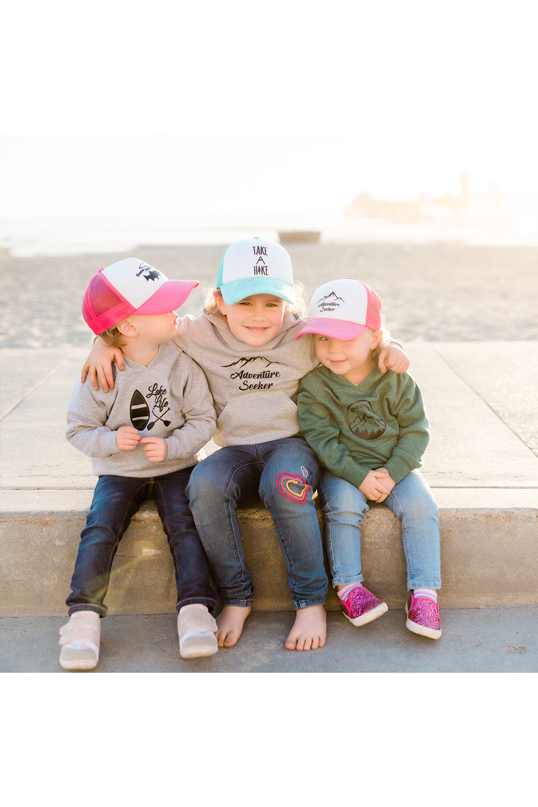 Outdoorable Apparel Gone Fishing Hat - Pink - Side Cropped Image