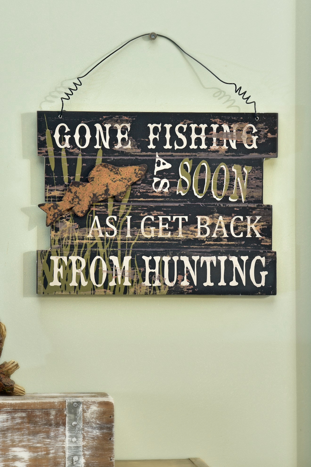 Giftcraft Inc.  Gone Fishing Sign - Main Image