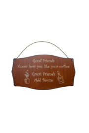 Rustic Ironwerks Good Friends Know Sign - Product Mini Image