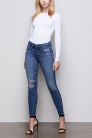 Good American  Good Legs Crop Jean in Blue377 - Product Mini Image