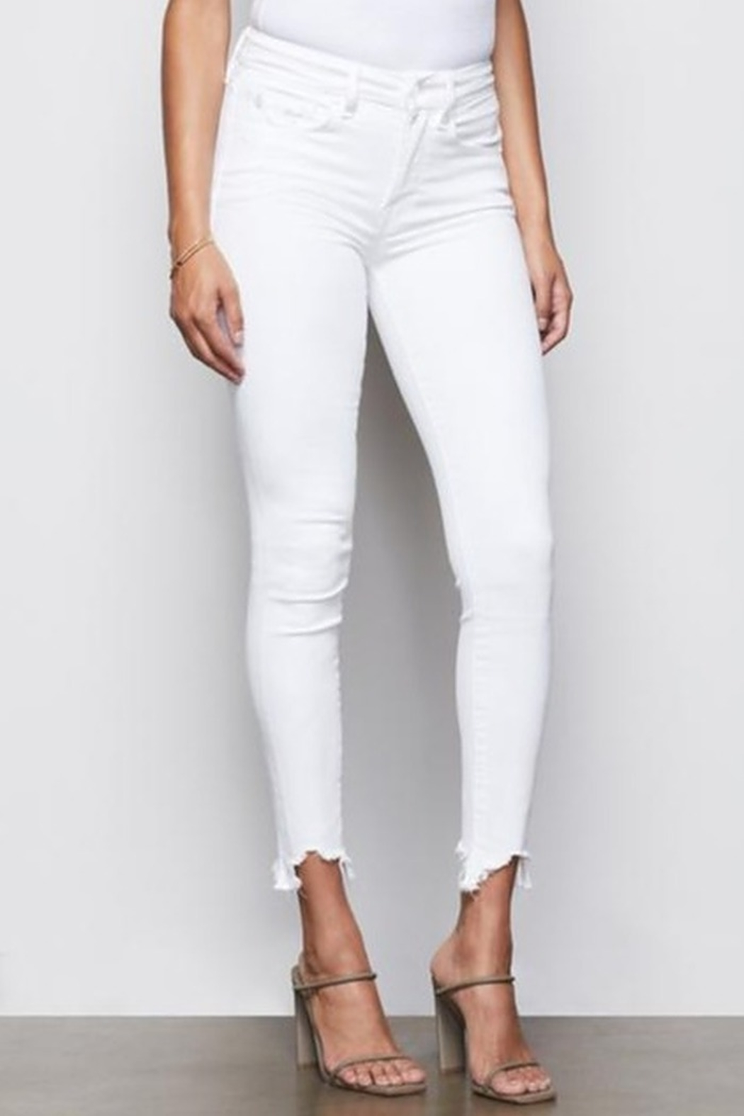 Good American  Good Legs White Skinny Jeans - Side Cropped Image