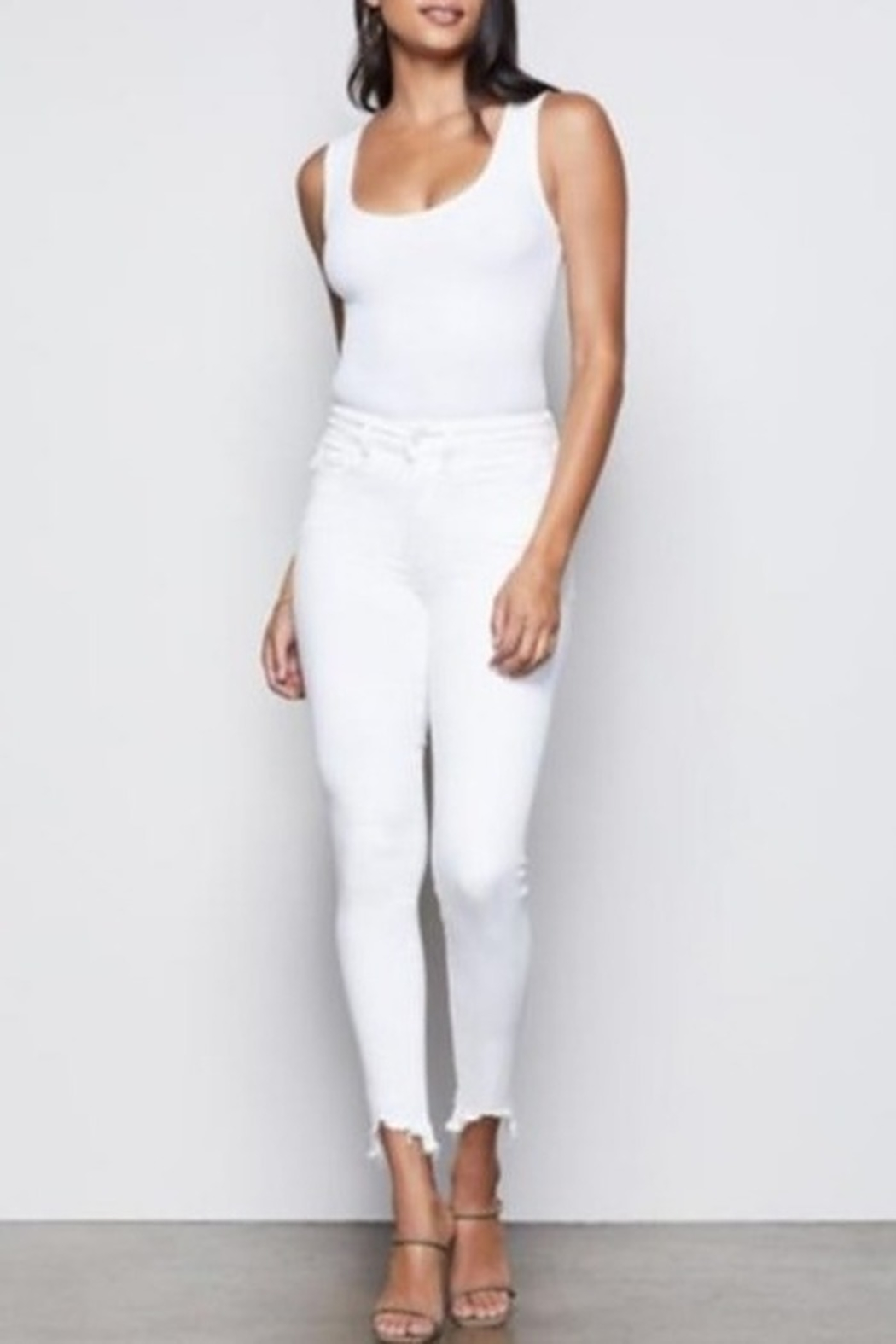 Good American  Good Legs White Skinny Jeans - Front Cropped Image