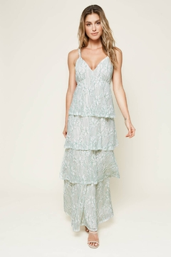 Sugarlips Good Life Tiered Lace Maxi Dress - Product List Image