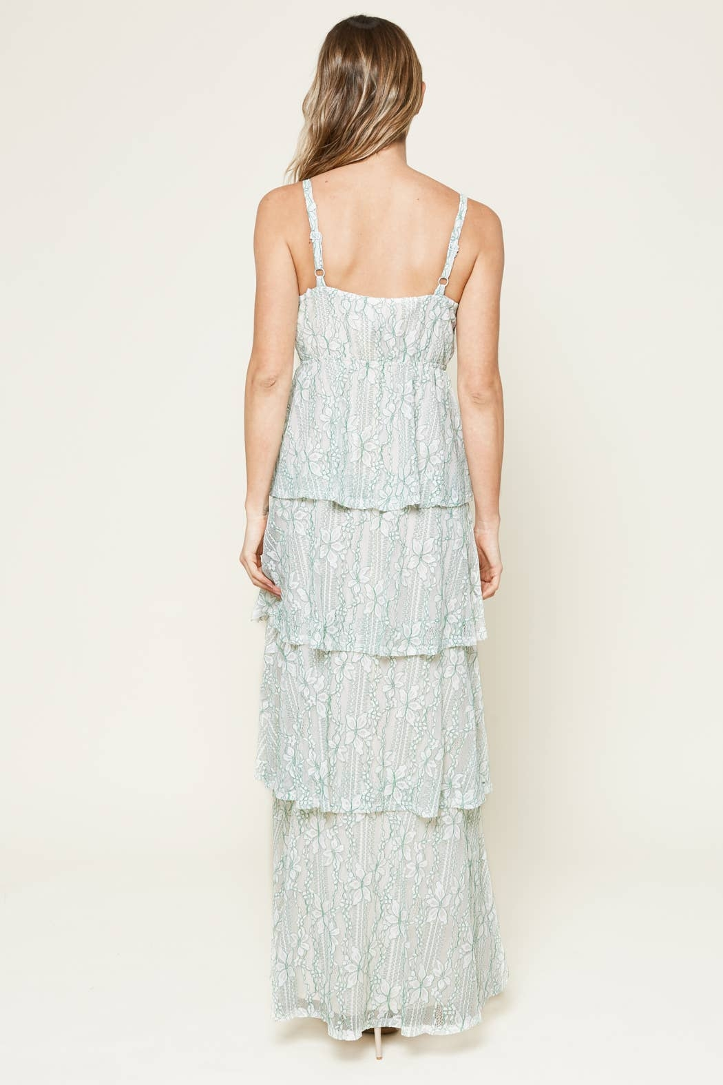 Sugarlips Good Life Tiered Lace Maxi Dress - Side Cropped Image
