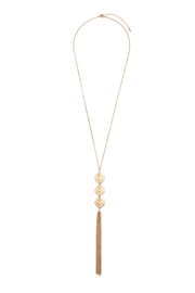 Riah Fashion Good-Luck-Charm Tassel-Lariat-Necklace - Product Mini Image