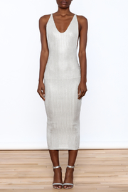 Good Time Knit Foil Dress - Front cropped