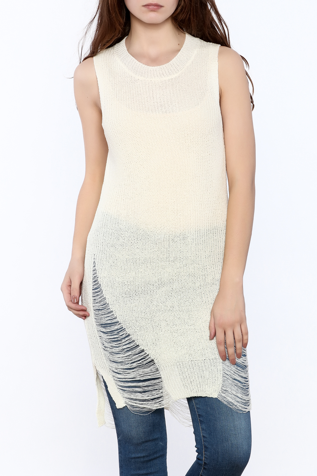 Good Time Knitted Sleeves Top - Main Image