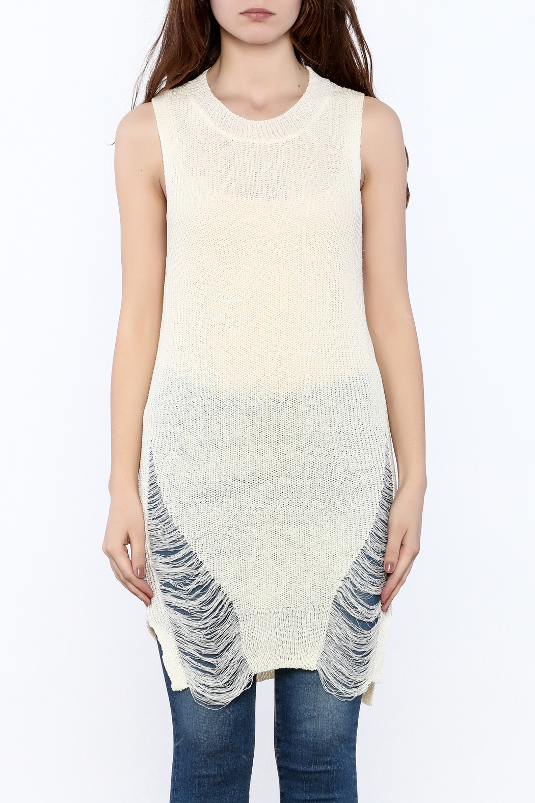 Good Time Knitted Sleeves Top - Side Cropped Image