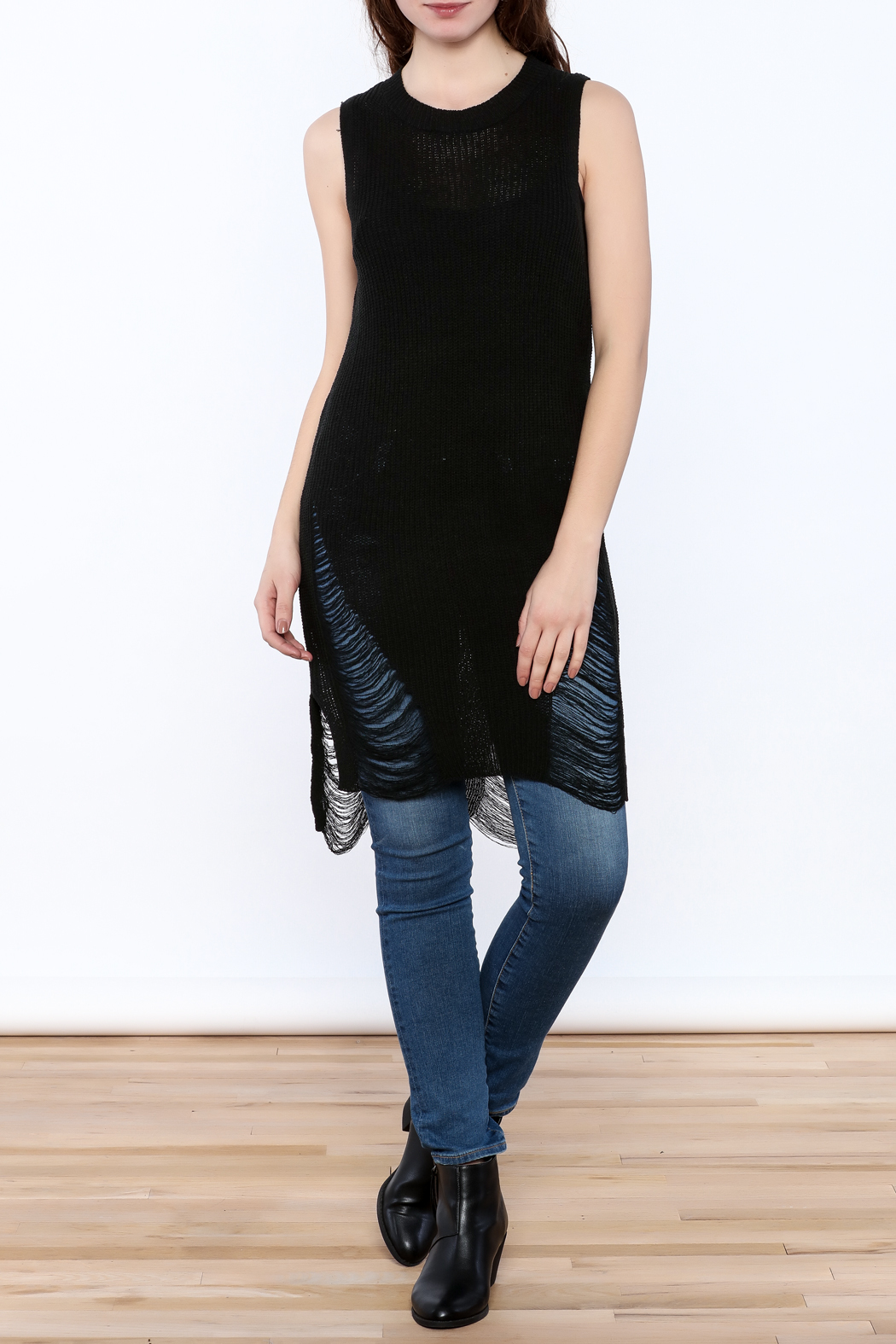 Good Time Knitted Sleeves Top - Front Full Image