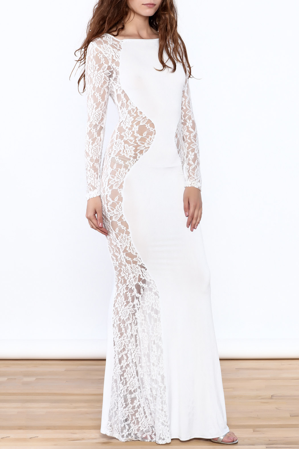 Good Time Lace Mermaid Dress - Front Full Image