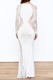 Good Time Lace Mermaid Dress - Back cropped