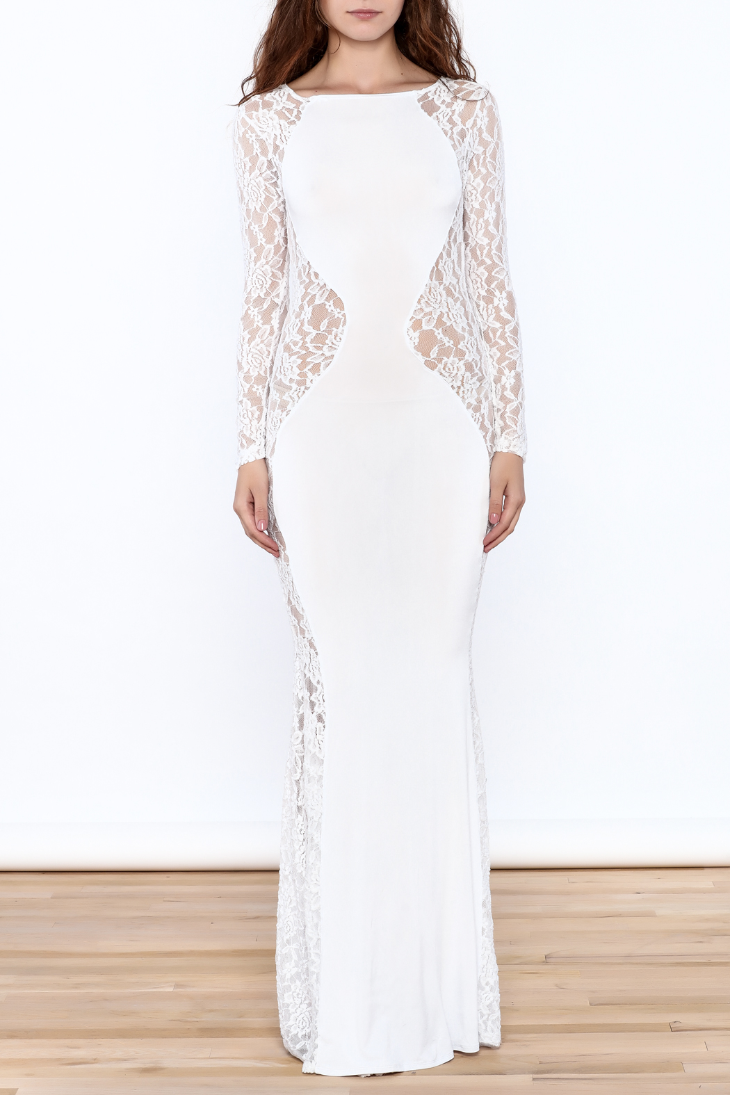 Good Time Lace Mermaid Dress - Front Cropped Image