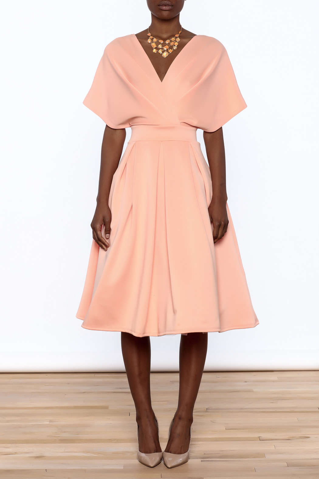 Good Time Puff Skirt Dress - Front Cropped Image