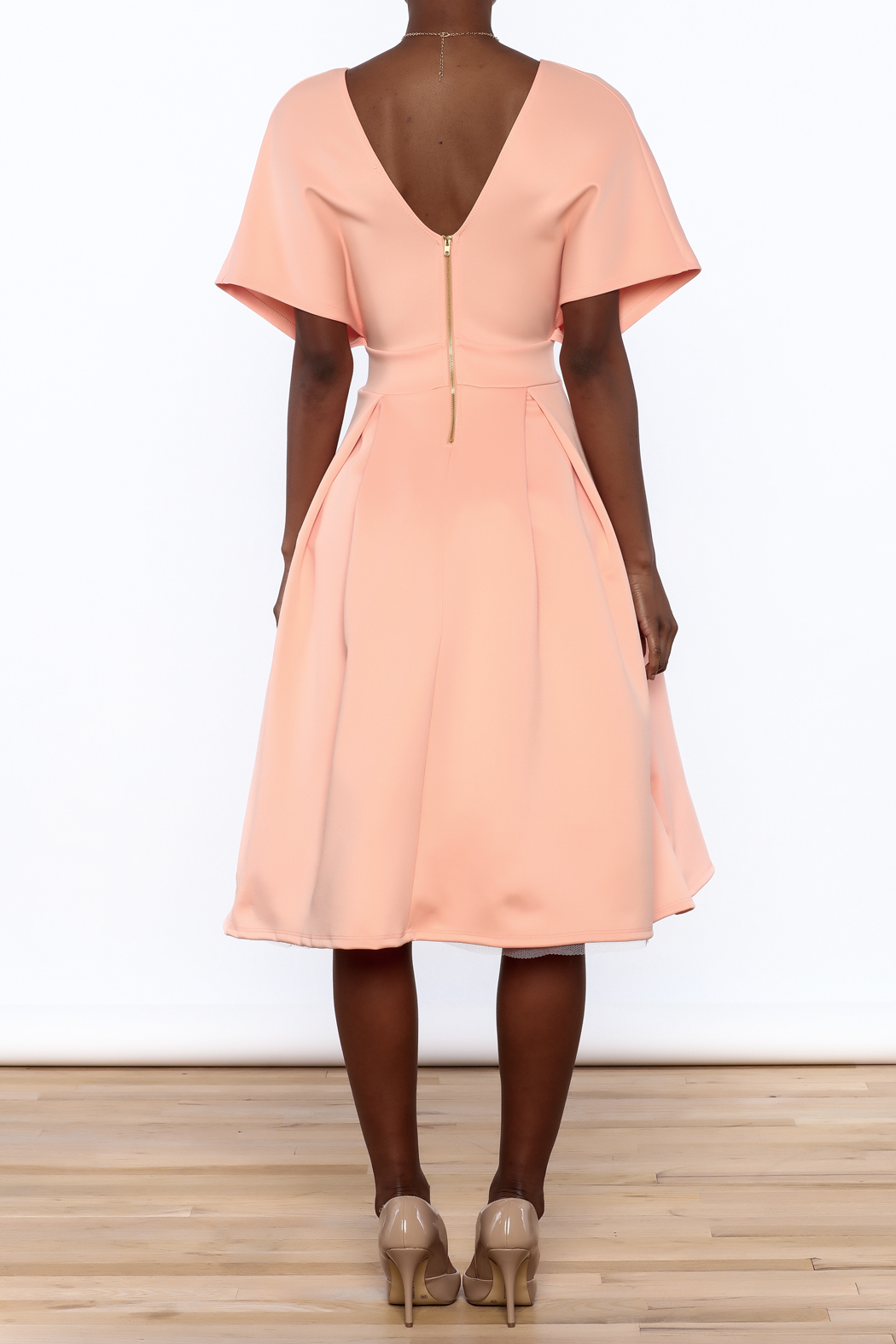 Good Time Puff Skirt Dress - Back Cropped Image