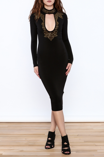 Good Time Rhinestone Choker Dress - Main Image
