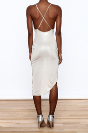 Good Time Silky Wrapped Dress - Back cropped