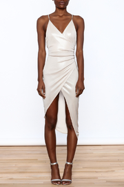 Good Time Silky Wrapped Dress - Front cropped
