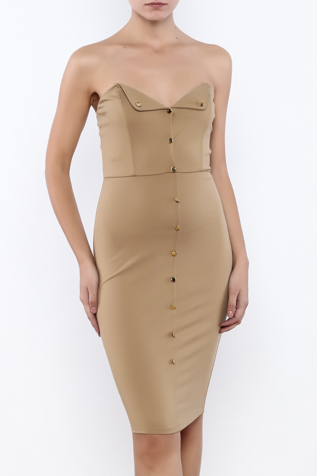 Good Time Strapless Bodycon Dress - Main Image
