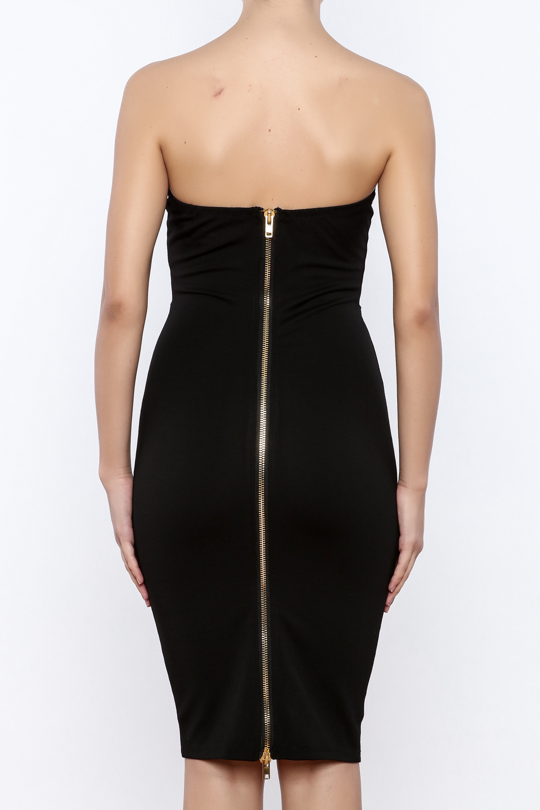 Good Time Strapless Bodycon Dress - Back Cropped Image