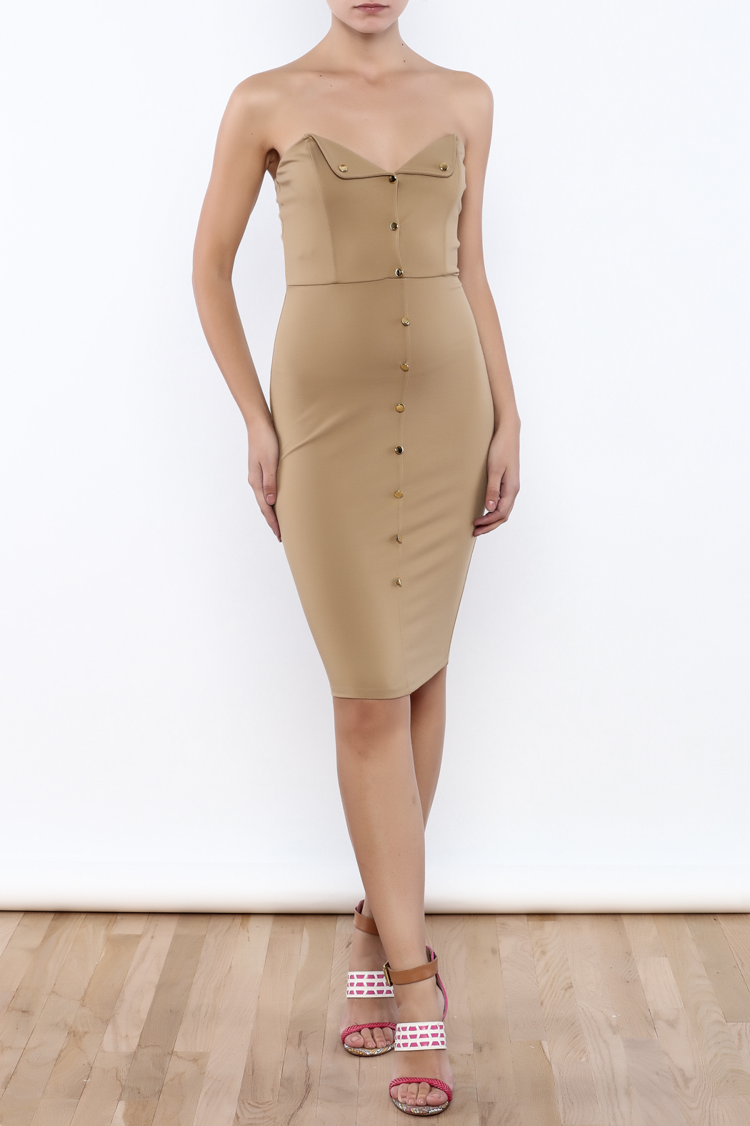 Good Time Strapless Bodycon Dress - Front Full Image