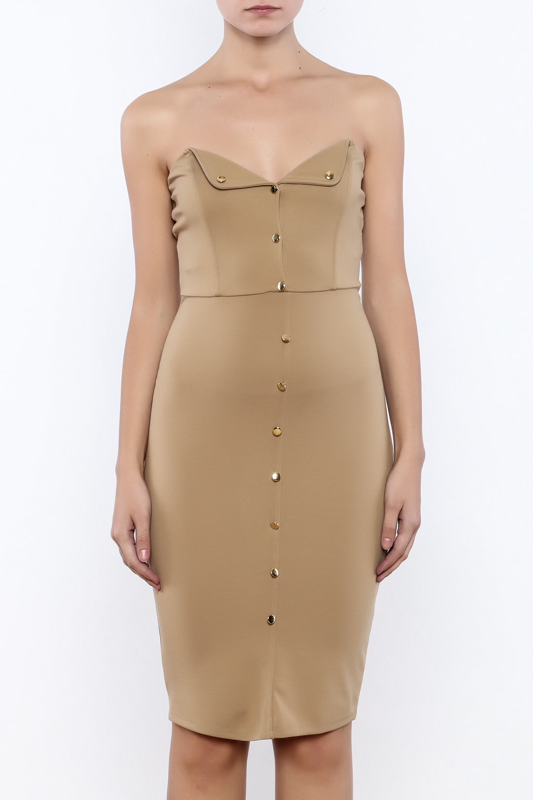 Good Time Strapless Bodycon Dress - Side Cropped Image