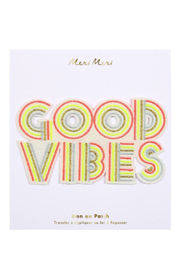 Meri Meri Good Vibes Iron On Patches - Product Mini Image