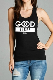 Natasha Couture Fashion Good-Vibes-Only Tank Top - Product Mini Image