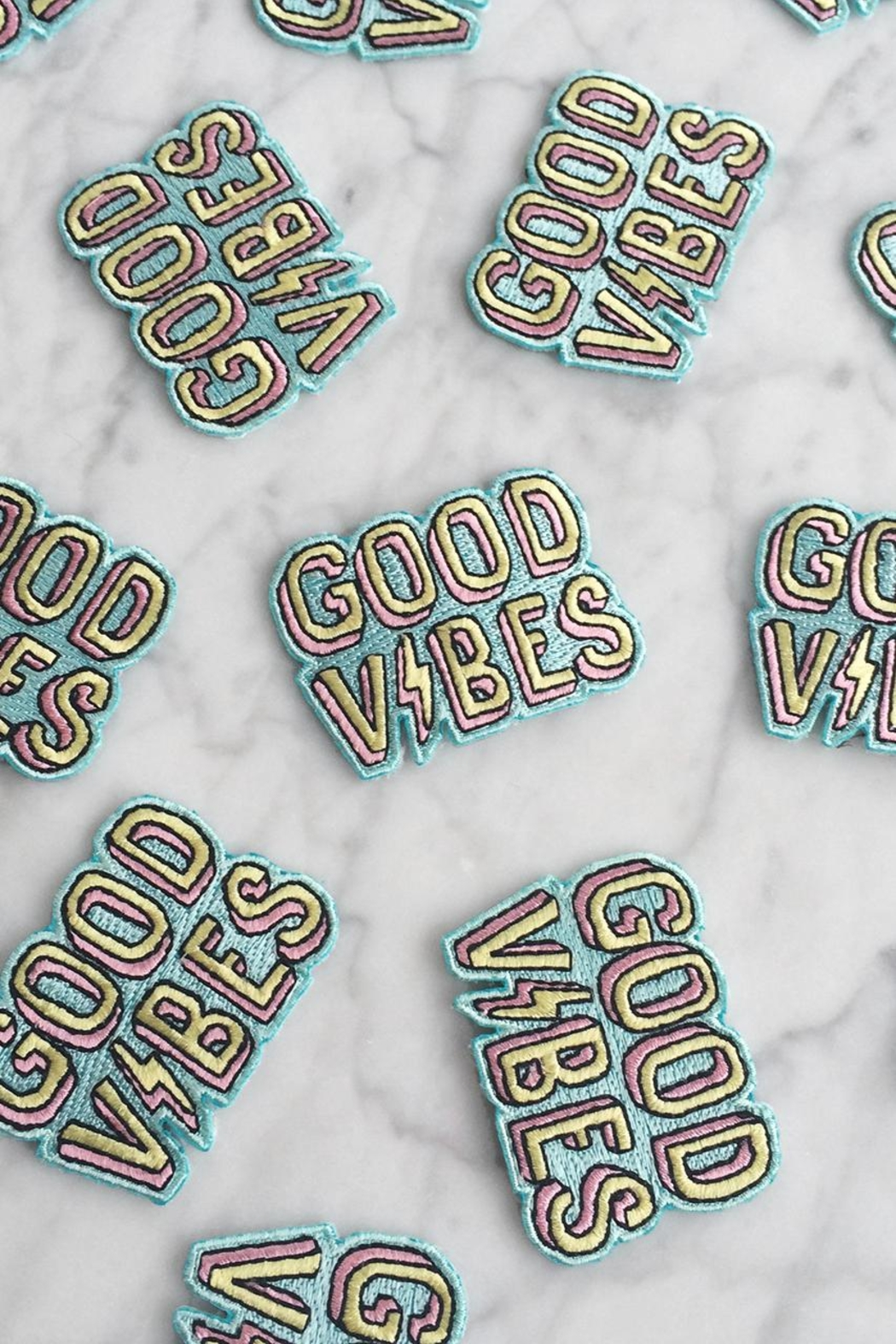 wildflower Good Vibes Patch - Front Full Image