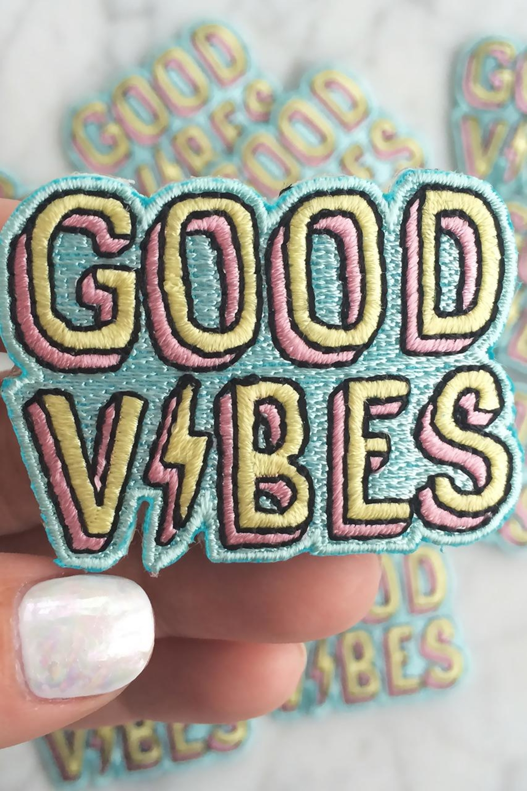 wildflower Good Vibes Patch - Side Cropped Image