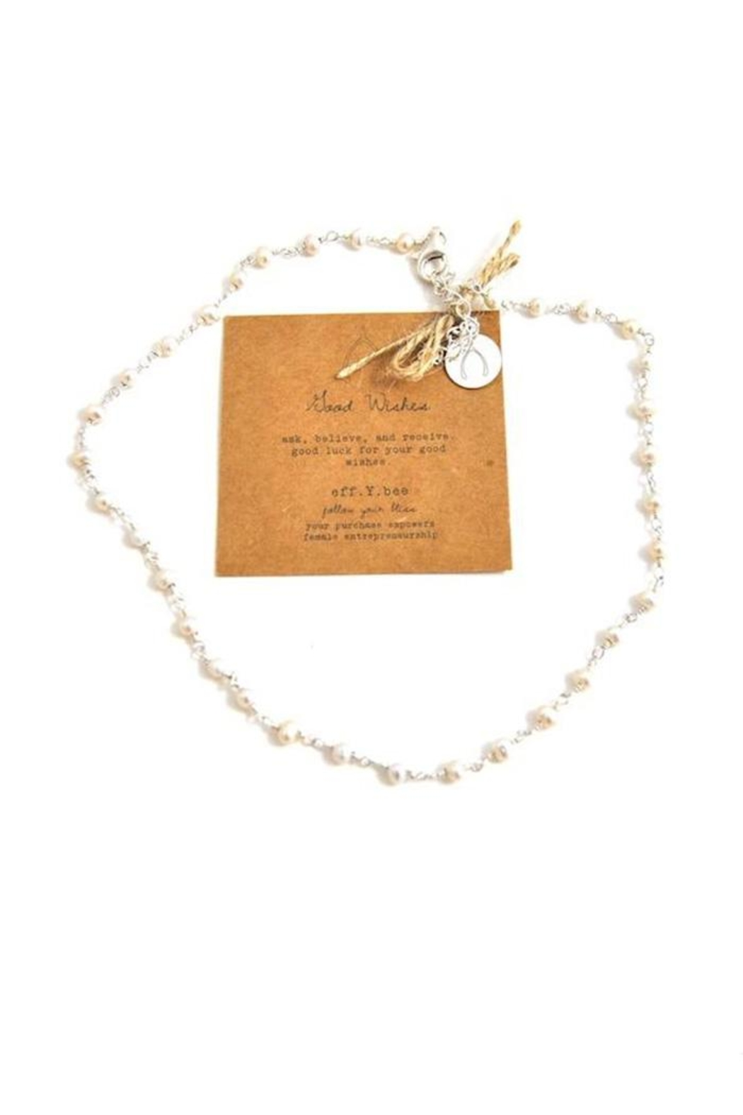 Lets Accessorize Good Wishes Pearl-Choker - Front Cropped Image