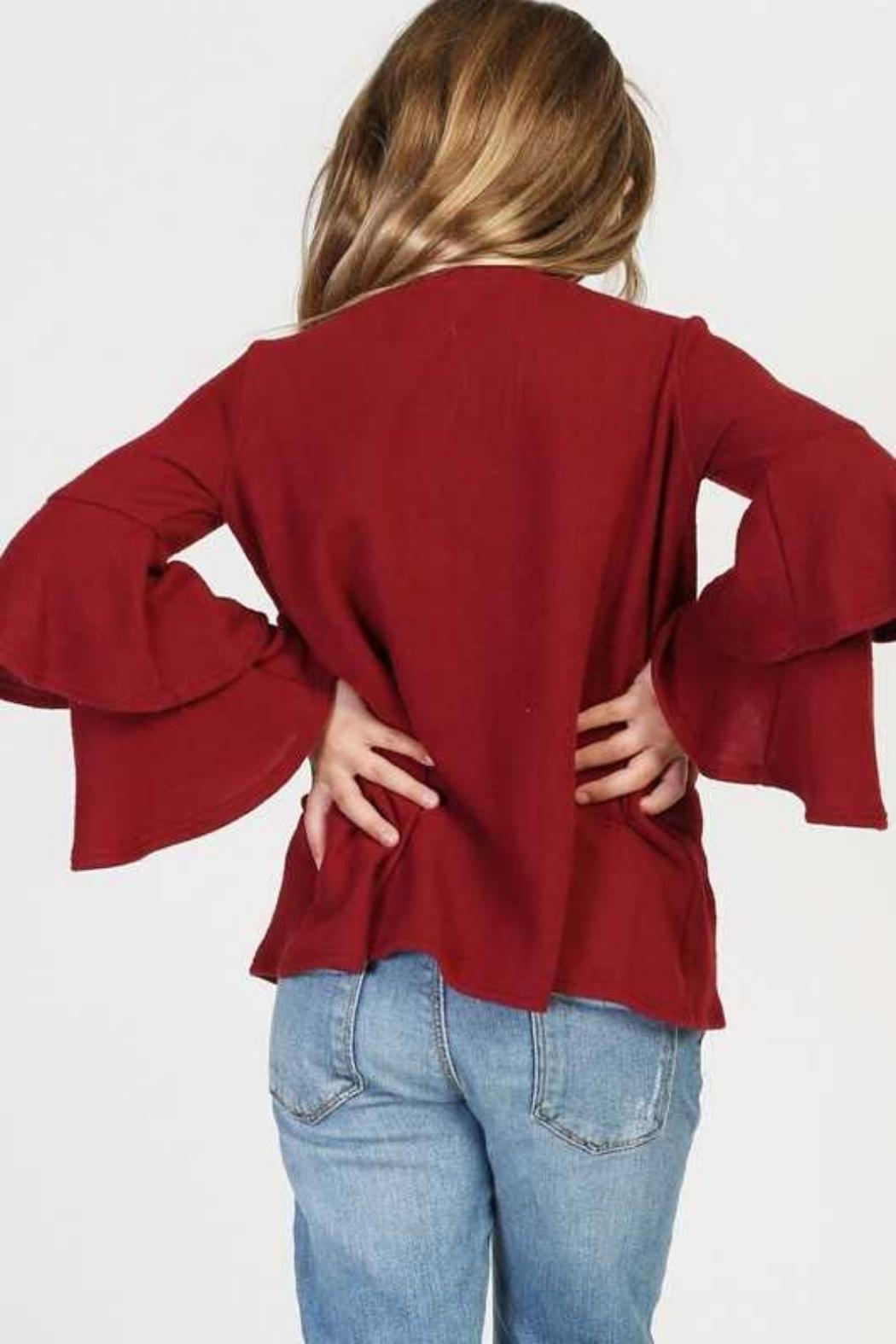 GOOD GIRL Tiered Girls Sweater - Side Cropped Image